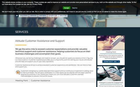 Screenshot of Services Page altitude.com - Altitude Customer Assistance | Support - Altitude.com | EN Altitude - captured Jan. 17, 2016
