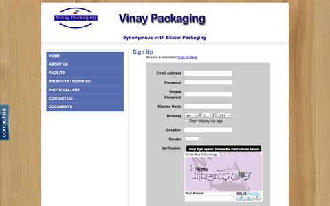 Screenshot of Signup Page webs.com - Signup - - captured Sept. 13, 2014