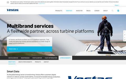 Screenshot of Contact Page vestas.com - Utopus Insights - captured Feb. 5, 2018