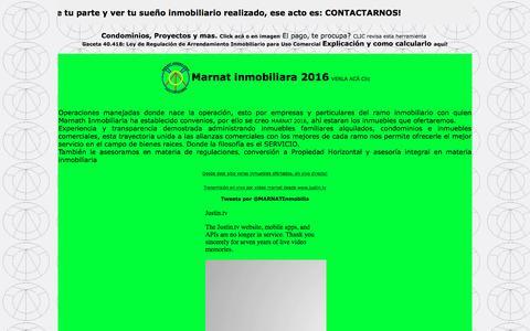 Screenshot of Home Page marnatbienesraices.com - Bienes Raices Marnat Inmobiliaria - captured Feb. 12, 2016