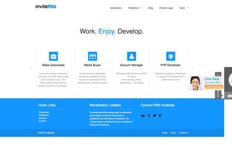 Screenshot of Jobs Page inviteads.com - Careers | inviteAds - captured Sept. 19, 2014