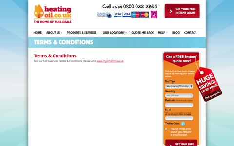 Screenshot of Terms Page heatingoil.co.uk - Terms & Conditions | Home Heating Oil | HeatingOil.co.uk - captured Oct. 2, 2014