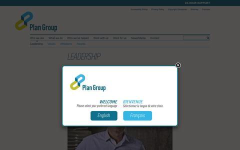 Screenshot of Team Page plan-group.com - Leadership   Plan Group - captured Dec. 9, 2015