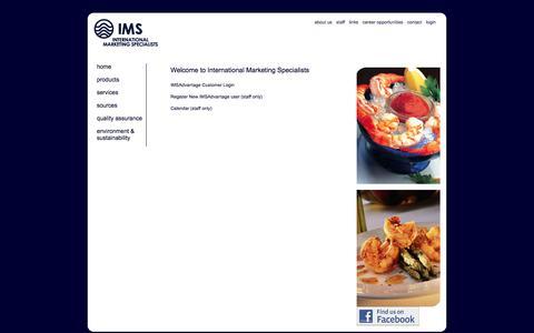 Screenshot of Login Page forshrimp.com - For Shrimp - Login - captured Oct. 6, 2014