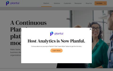 Screenshot of Developers Page planful.com - Continuous Financial Planning Platform for FP&A   Planful - captured Jan. 15, 2020