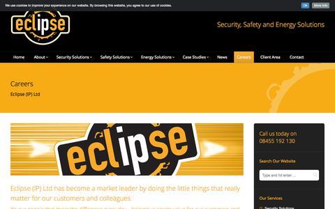 Screenshot of Jobs Page eclipse-ip.co.uk - Careers - Eclipse (IP) Ltd - Scotland, UK - captured Oct. 22, 2014