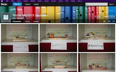 Screenshot of Flickr Page flickr.com - Flickr: Norsk Maritimt Museum's Photostream - captured Oct. 26, 2014
