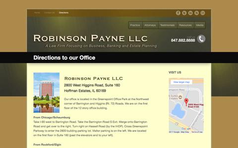 Screenshot of Maps & Directions Page robinsonpayne.com - Directions to our Office - Robinson Payne LLC - captured July 6, 2017