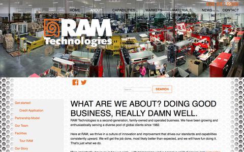 Screenshot of About Page ramtechnologies.com - About - RAM Technologies - captured Oct. 27, 2017