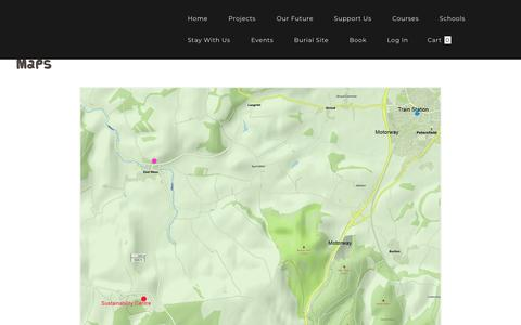 Screenshot of Maps & Directions Page sustainability-centre.org - Map - captured Sept. 18, 2019