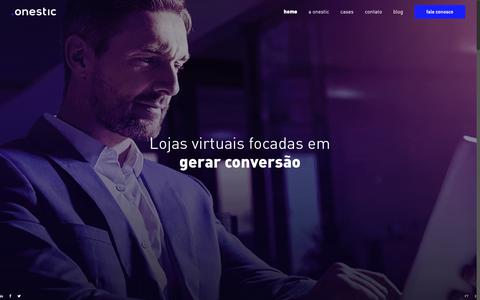 Screenshot of Home Page onestic.com.br - Onestic Brasil – E-commerce Development - captured Nov. 17, 2018