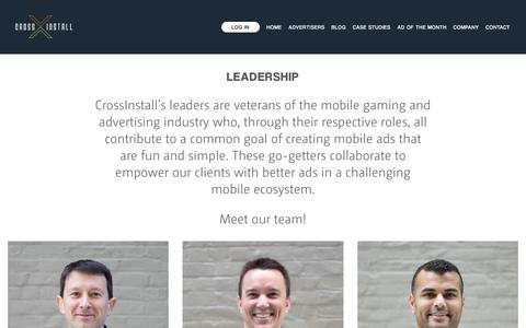 Screenshot of Team Page crossinstall.com - Leadership — CrossInstall - captured March 15, 2018