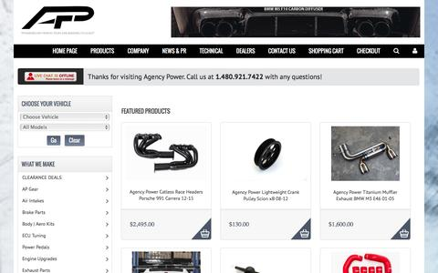 Screenshot of Products Page agency-power.com - Agency Power  - Agency Power - captured Dec. 24, 2015