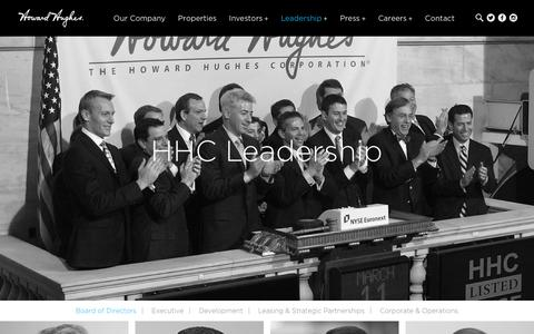 Screenshot of Team Page howardhughes.com - Leadership | Howard Hughes - Corporate - captured Jan. 20, 2016