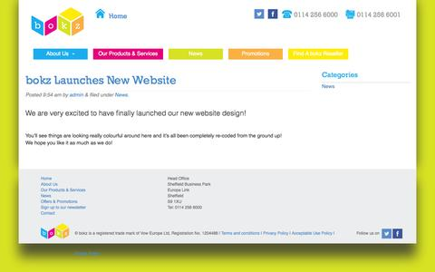Screenshot of Press Page thebokz.co.uk - News |  Your business, all wrapped up - captured Nov. 3, 2014