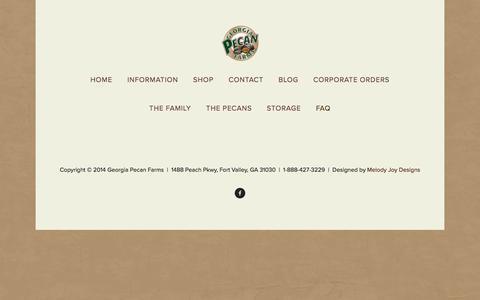 Screenshot of FAQ Page georgiapecanfarms.com - FAQ — Georgia Pecan Farms LLC - captured April 10, 2017