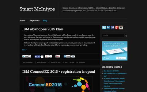 Screenshot of Blog stuart-mcintyre.com - Blog   Stuart McIntyre - captured Oct. 26, 2014