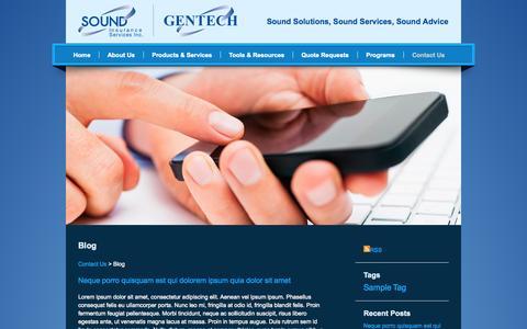 Screenshot of Blog soundinsurance.ca - Sound Insurance - Blog - captured Nov. 5, 2014