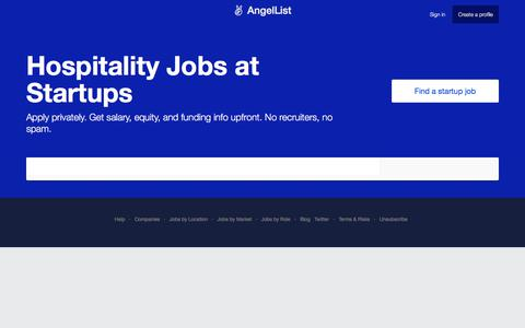 Hospitality Jobs at Startups - AngelList