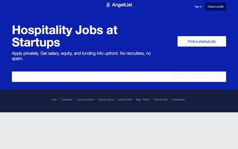 Hospitality Jobs at Startups - AngelList