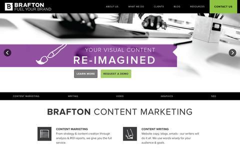 Screenshot of Home Page brafton.com - Brafton - captured Dec. 18, 2015
