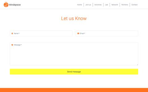 Screenshot of Contact Page mindspace.gr - Contact – Mindspace - captured Oct. 15, 2017