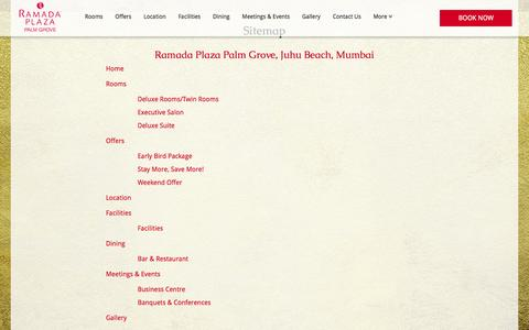 Screenshot of Site Map Page ramadaplaza-juhu.com - Sitemap | Ramada Plaza Palm Grove, Juhu Beach, Mumbai - captured Nov. 29, 2016