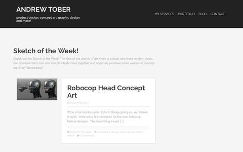 Screenshot of Blog andrewtober.com - Sketch of the Week! Archives - Andrew Tober - captured Oct. 23, 2018