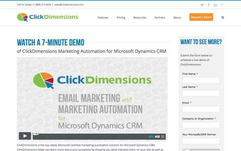 Watch a 7-Minute Demo - ClickDimensions