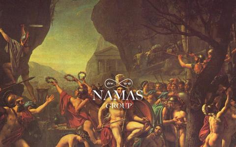 Screenshot of Home Page namasgroup.com - NAMAS ∞ GROUP - captured Jan. 30, 2015