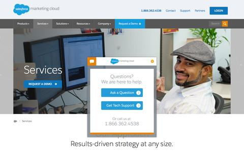 Screenshot of Services Page exacttarget.com - Services Overview | Salesforce Marketing Cloud - captured Feb. 5, 2016