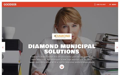 Projects > Diamond Municipal Solutions | GOODSIR