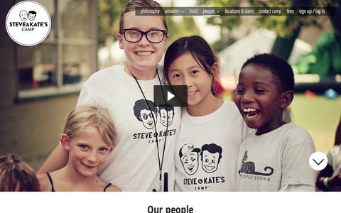 Screenshot of Team Page steveandkatescamp.com - People | Steve & Kate's Camp - captured Oct. 22, 2015