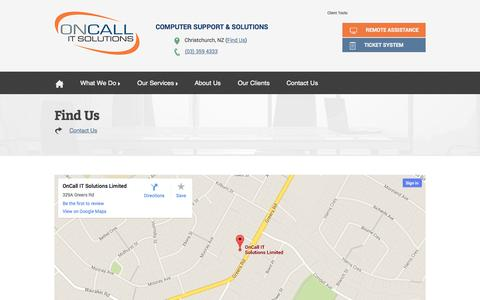 Screenshot of Maps & Directions Page oncallit.co.nz - Find Us | OnCall IT - captured Oct. 1, 2014