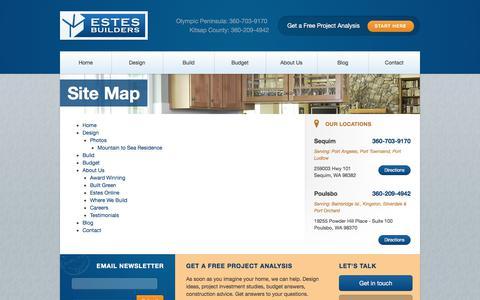 Screenshot of Site Map Page estesbuilders.com - Site Map - Estes Builders - captured Aug. 22, 2017
