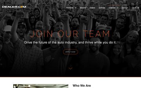 Screenshot of Jobs Page dealer.com - Technical engineering - captured Nov. 18, 2017