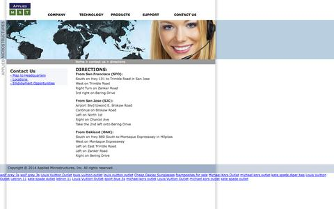 Screenshot of Maps & Directions Page appliedmst.com - Contact Us - Directions | Applied Microstructures - captured Sept. 13, 2014