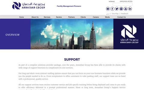 Screenshot of Support Page nasban.com.sa - AnNasban Group | Facility Management Pioneers - captured Dec. 3, 2016