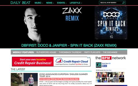 Screenshot of Home Page daily-beat.com - Daily Beat - captured Sept. 23, 2014