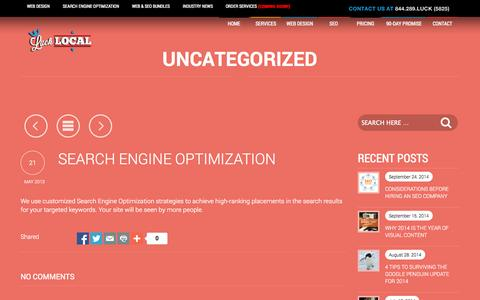 Screenshot of Developers Page lucklocal.com - Search Engine Optimization - Luck LocalLuck Local - captured Sept. 25, 2014