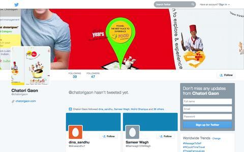Screenshot of Twitter Page twitter.com - Chatori Gaon (@chatorigaon) | Twitter - captured Oct. 22, 2014