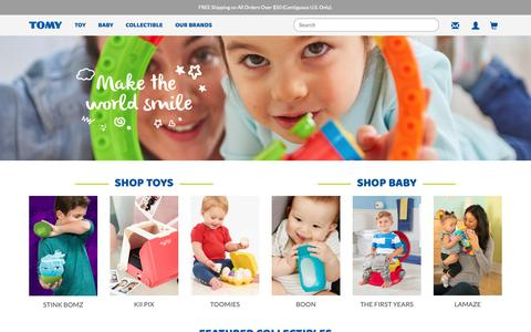 Screenshot of Home Page tomy.com - TOMY Official Website: Making the World Smile - captured Nov. 12, 2018