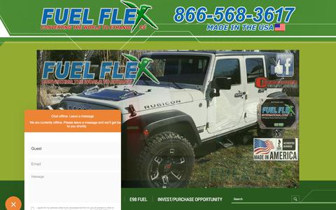 Screenshot of Home Page fuelflexinternational.com - E85 conversion kits - e85 kits - ALCOHOL FUEL CONVERSION KITS - FLEX FUEL CONVERSIONS - Fuel Flex International, Full Flex International - Full Flex Gold and ECO Flex Platinum USA Distributor flex fuel - Pulstar pulse Spark Plugs - FLEX COMBUSTIBLE - captured Aug. 23, 2018