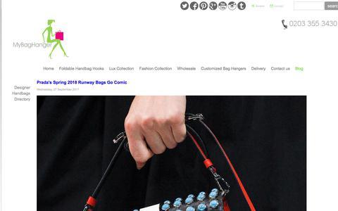 Screenshot of Blog mybaghanger.com - All about handbags and fashion - Handbag Hook | Handbag Hanger | Bag Holder | Purse Hook - captured Oct. 3, 2017