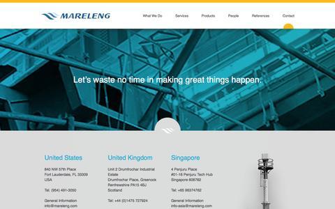 Screenshot of Contact Page mareleng.com - Contact | Mareleng - captured Sept. 30, 2014