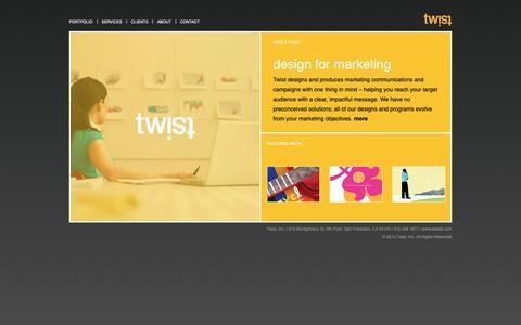 Screenshot of Home Page twistsf.com - Twist SF - captured Nov. 16, 2018