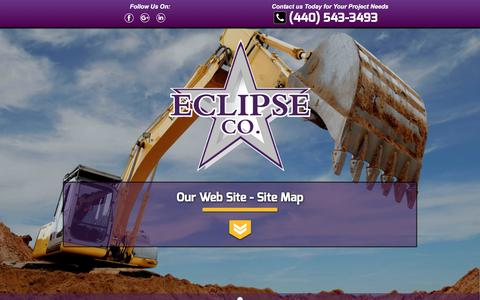 Screenshot of Site Map Page theeclipsecompanies.com - Site Map | Eclipse Company LLC - captured July 14, 2017