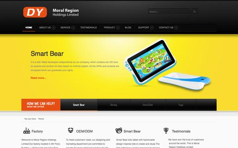 Screenshot of Home Page moralregion.com - Electronic Educational Toys Manufacturers&Suppliers From China - Moral Region - captured Oct. 8, 2014