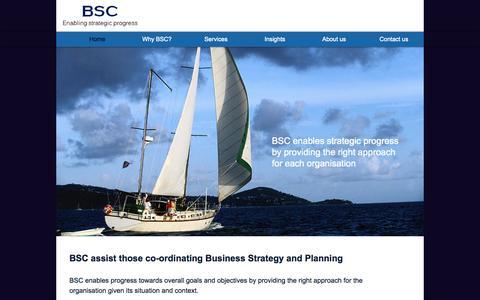 Screenshot of Home Page bishopstrategyconsulting.co.uk - BSC - Bishop Strategy Consulting - captured Oct. 5, 2014