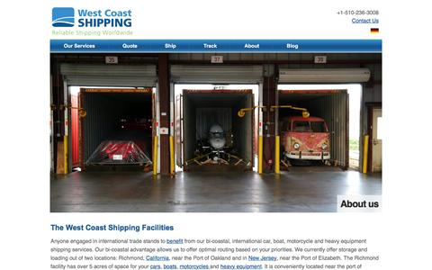 Screenshot of About Page wcshipping.com - International Car Shipping Facilities - captured Dec. 15, 2016